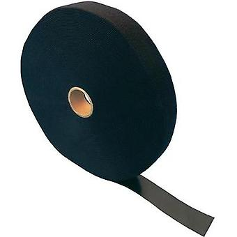 Hook-and-loop tape for bundling Hook and loop pad (L x W) 25000 mm x 100 mm Black Fastech ETN FAST-Strap 100 MM 25 m