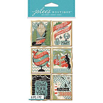 Jolee's Boutique Dimensional Stickers-Travel Poster E5050917