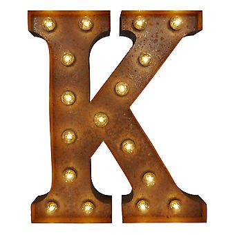 Large Vintage Letter Lights - K