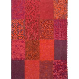 Vintage Orange & Purple Patchwork Lounge Rug - Louis De Poortere