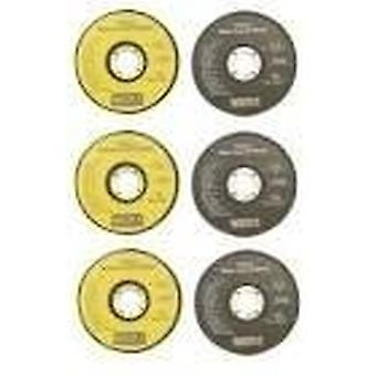 6pc 115mm Angle Grinder Disc Set