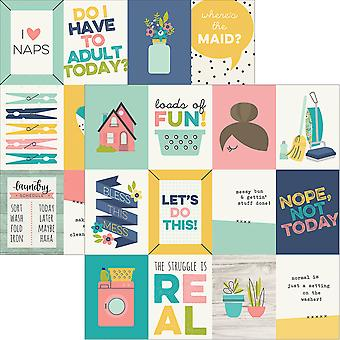 Domestic Bliss Double-Sided Elements Cardstock 12