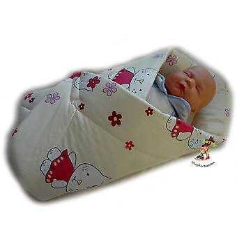 BlueberryShop PLAYMAT  Swaddle Wrap, Blanket, duvet, Sleeping Bag for newborn  baby shower GIFT PRESENT, 0-3m Cotton