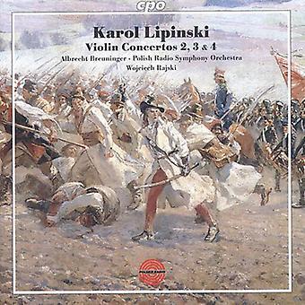 K. Lipinski - Karol Lipinski: Violin Concertos nos. 2, 3 y 4 importación de Estados Unidos [CD]