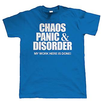 Vectorbomb, Chaos Panic & Disorder, Mens Funny T Shirt (S to 5XL)