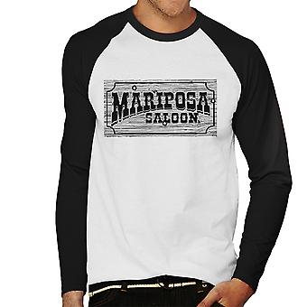 Mariposa Saloon Sweetwater Westworld Black Men's Baseball Long Sleeved T-Shirt