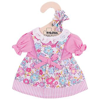 Bigjigs Toys Pink Floral Rag Doll Dress for 28cm Soft Doll