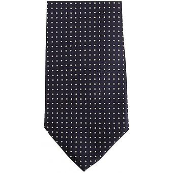 Bassin and Brown Small/Medium Spot Silk Tie - Navy/Wine