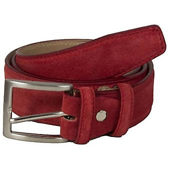 40 Colori Trento Suede Leather Belt - Red