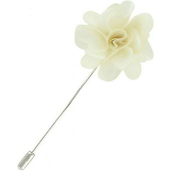Michelsons of London Flower Lapel Pin - Cream