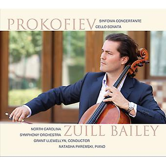 Prokofiev, S. / Bailey, Zuill / Llewellyn, Grant - Sinfonia Concertante i E mindre Op.125 & Cello [CD] USA import