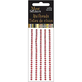 Metal Stickers Nailheads 3Mm Round 125 Pkg Red 38Ms3mm 3864