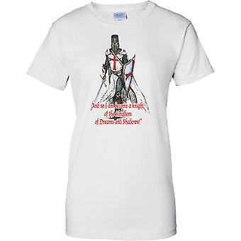 Cavaliere del Regno - St George - England Patriot - Ladies T Shirt