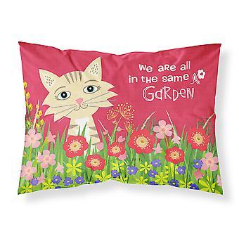 Carolines trésors VHA3009PILLOWCASE jardin chat tissu taie d'oreiller Standard