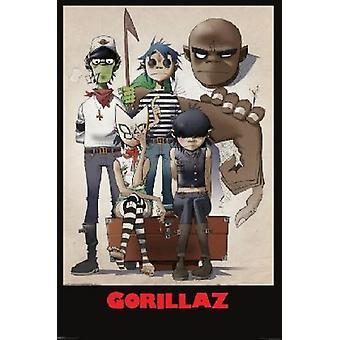 Gorillaz Family Portrait Poster Poster Print