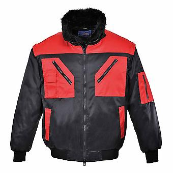 sUw - Versatile All-Weather 4-In-1 Warm Fur Lined Two Tone Pilot Jacket