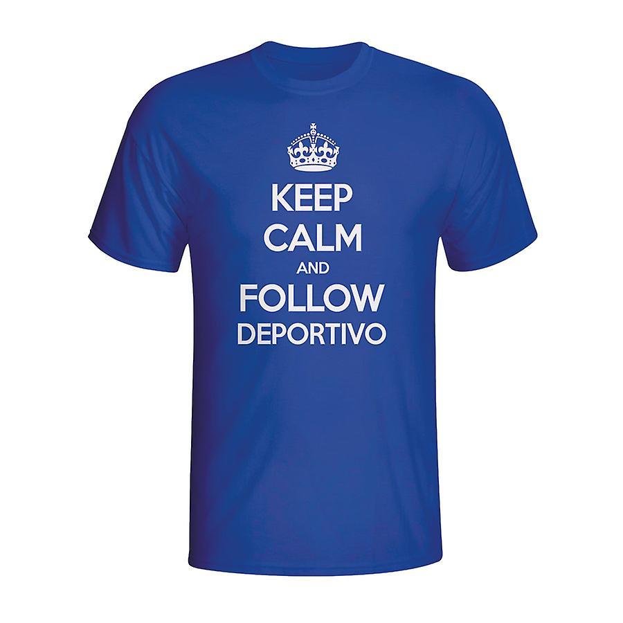 Keep Calm And Follow Deportivo T-shirt (blue)