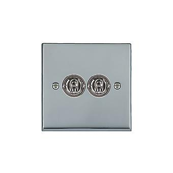 Hamilton Litestat Cheriton Victorian Bright Chrome 2g 20AX 2Way Toggle BC