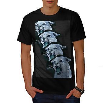 Vilde dyr Tiger kat mænd BlackT-skjorte | Wellcoda