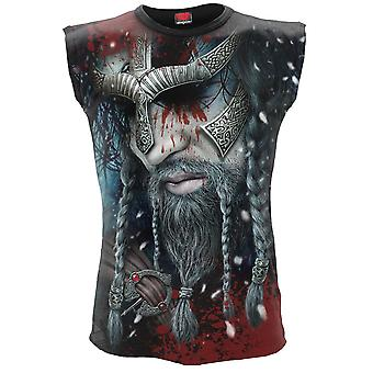 Viking Wrap Allover Print ärmelloses Muskel-Top