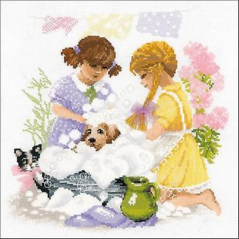 Housewives Counted Cross Stitch Kit-11.75
