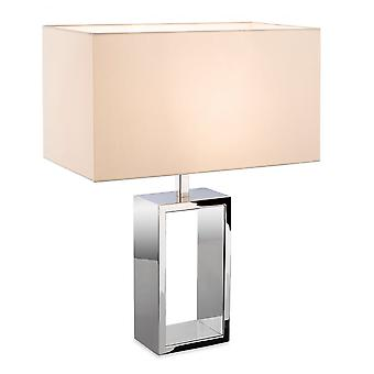 Firstlight Melrose Polished Nickel Table Lamp With Box Shade