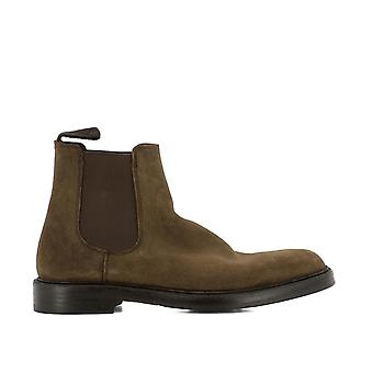 Green George men's 7067TABACCO brown suede ankle boots