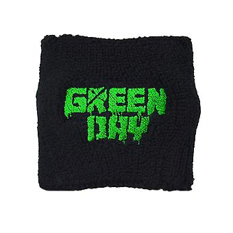 Green Day Logo Embroidered Wrist Sweatband