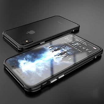 Premium metal shock bumper black for Apple iPhone X 10 pouch cover case new