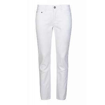 Laura Scott trousers 5-Pocket ladies 7/8 jeans destroyed white