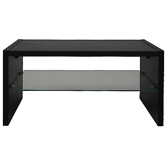 Opie - Tv Stand / Entertainment Unit With Glass Shelf - Black