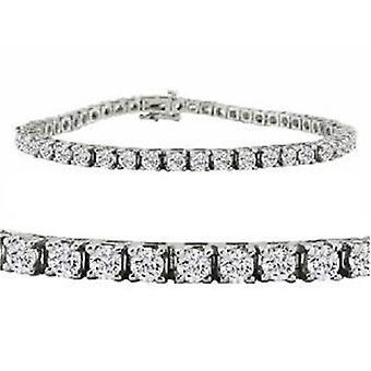 5 5/8ct 14k White Gold Round Diamond Tennis Bracelet