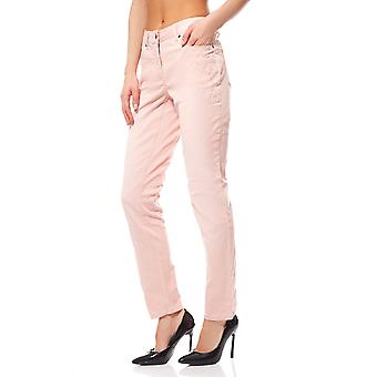 Trousers ladies flower pattern pink Aniston