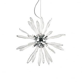 Ideal Lux Corallo Modern Crystal Spike Globe Light Pendant