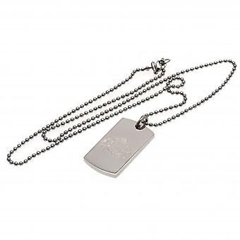 Sunderland Engraved Crest Dog Tag & Chain