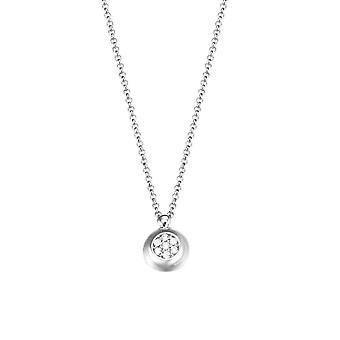 ESPRIT женщин цепи ожерелье серебро цирконий сверкающие маленькая ESNL93187A420