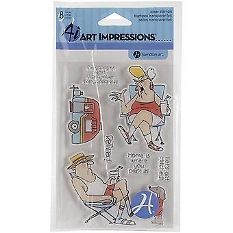 Art Impressions People Clear Rubber Stamps 4