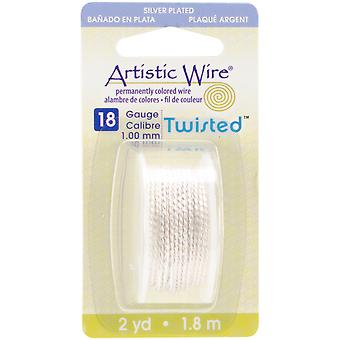Artistic Wire Twisted-Non-Tarnish Silver - 18 Gauge, 2yd