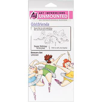 Art Impressions Girlfriends Cling Rubber Stamps 10