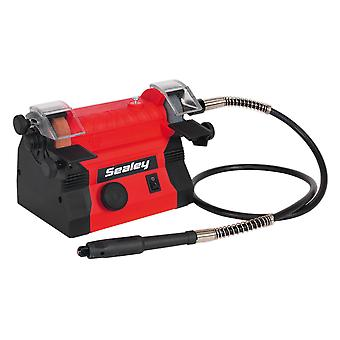 Sealey Bg1010 Mini Bench Grinder �50Mm - Flexible Drive Shaft