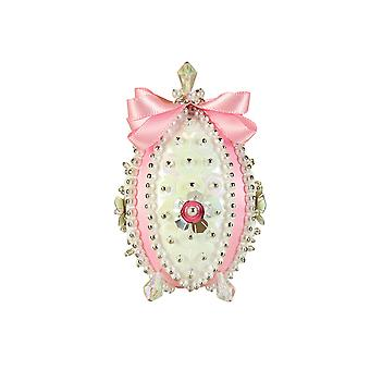 Pinflair Sequin & Pin Pink Carnation Faberge-Style Easter Egg