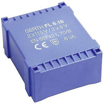 PCB mount transformer 2 x 115 V 2 x 6 V AC 6 VA 500 mA