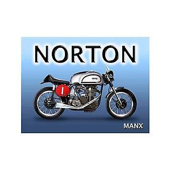 Norton Manx Metal Sign 300Mm X 400Mm