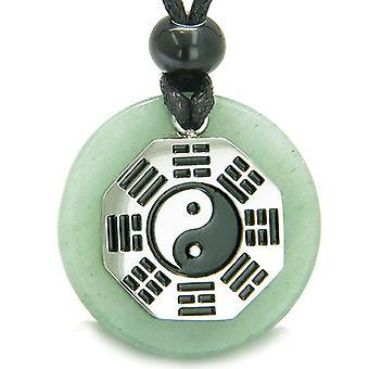 Yin Yang BA GUA acht Trigramme Amulett grünen Aventurin magisches Glück Befugnisse Anhänger Halskette