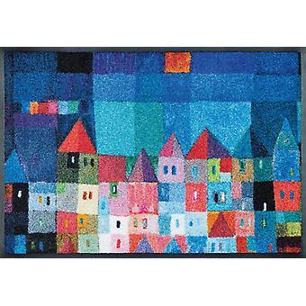 lavar + secar casas de colores por Eugen Stross alfombra lavable