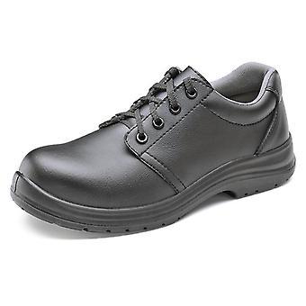 Click Micro-Fibre Tie Safety Shoe. Black. S2 - Cf823