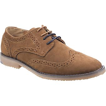 Stone Creek Mens Rocky Brogue 4 Eyelet Lace Up Oxford Shoes