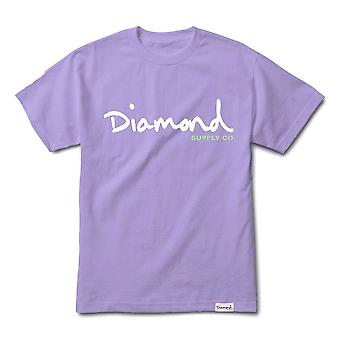 Diamond Supply Co OG Skript T-shirt Lavendel