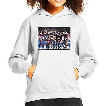 Retro Gladiators Live Kid's Hooded Sweatshirt