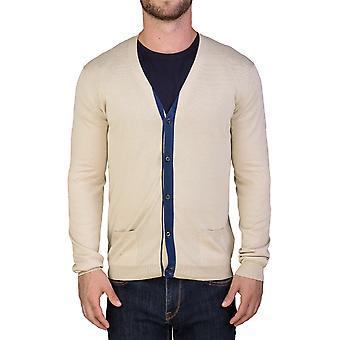 Prada Men's Cotton Cardigan Sweater Beige Blue